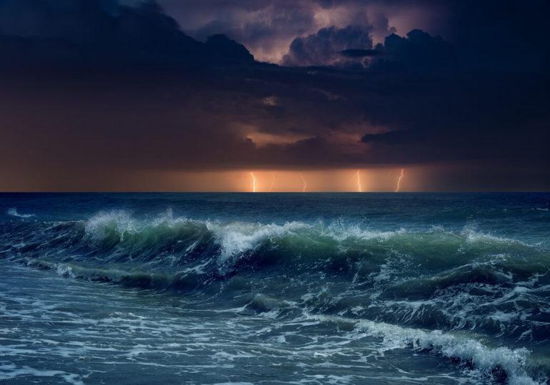 Tauchen während eines Gewitters
