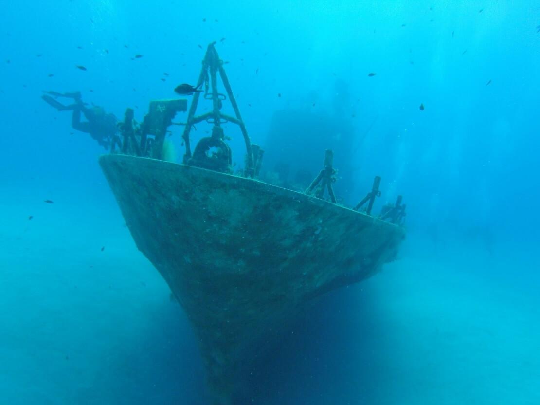 Schiffwrack am Meeresgrund