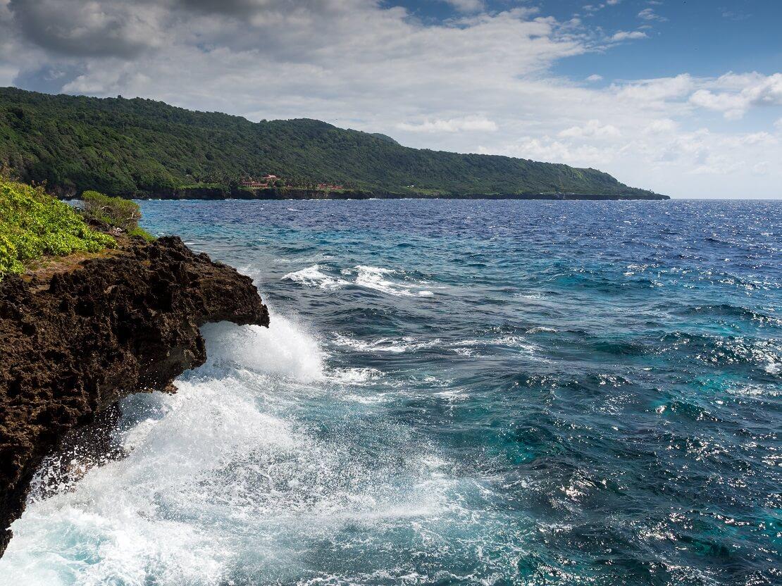 Steinige Küste Christmas Island