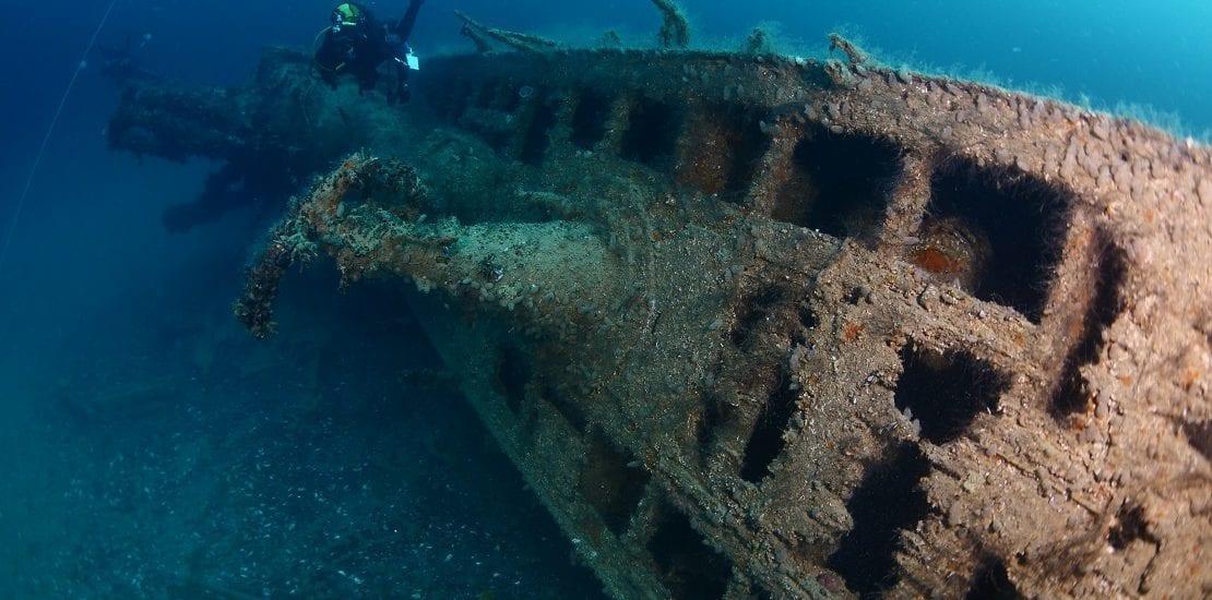 """Sehenswerte Schiffswracks #1: """"Grauer Wolf"""" U260 vor der Küste Irlands"""