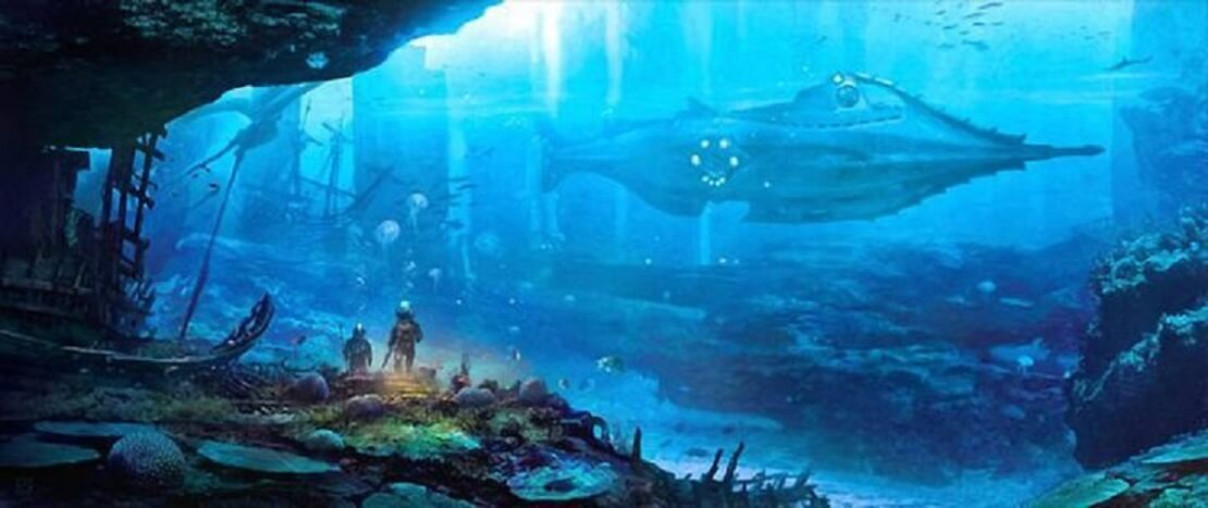 U-Boot Nautilus unter Wasser