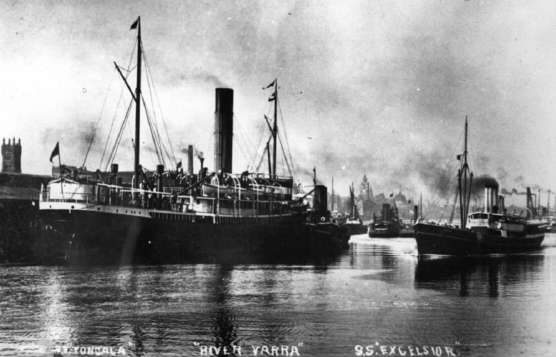 Die SS Yongala auf dem Yarra River