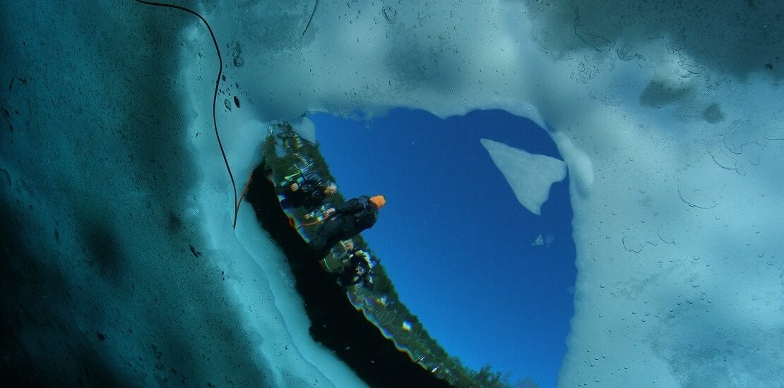 Eistauchen im Lac Lioson