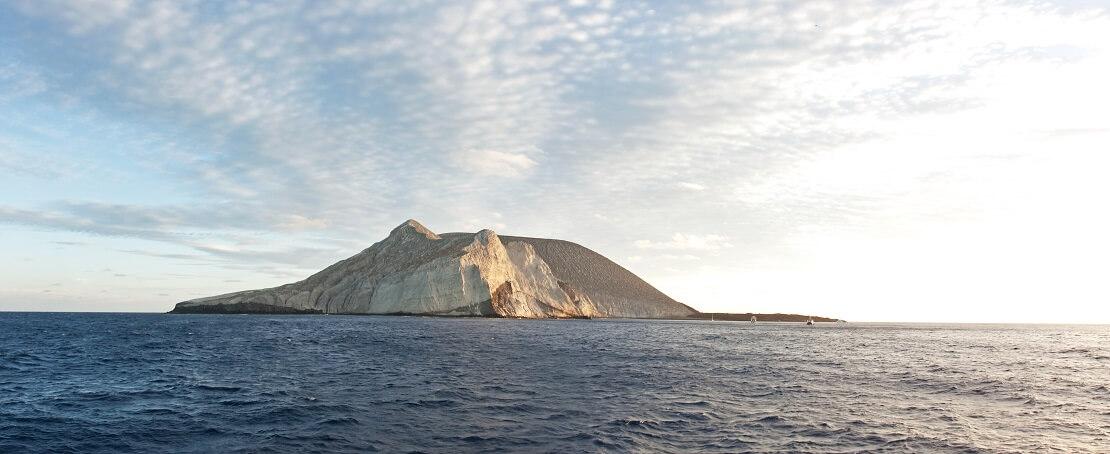 Die Insel Socorro im Meer