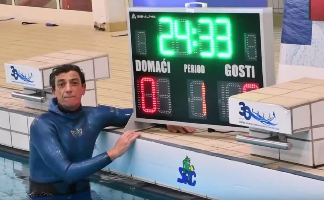 Budimir Sobat mit seinem neuen Rekordergebnis