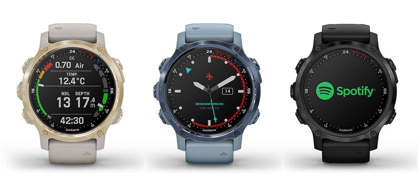 Die neue DescentMK2S in drei verschiedenen Farben