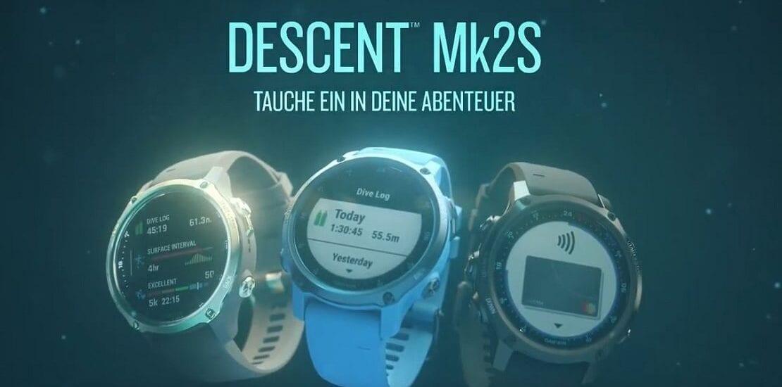 Descent Mk2S: Neuer Garmin-Tauchcomputer deutlich kleiner als Vorgänger-Modell