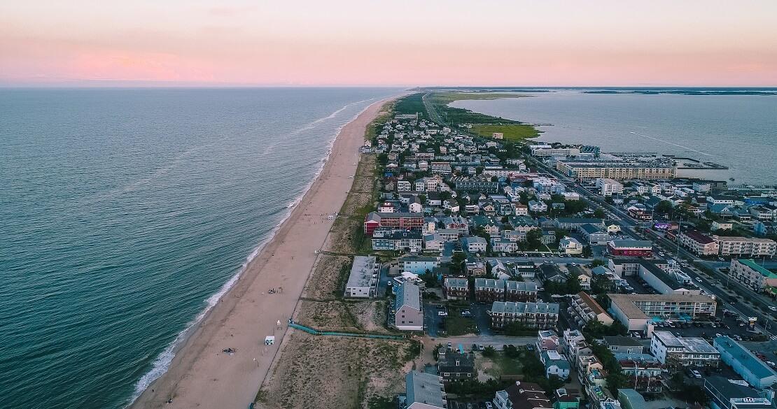 Die Küste von Delaware