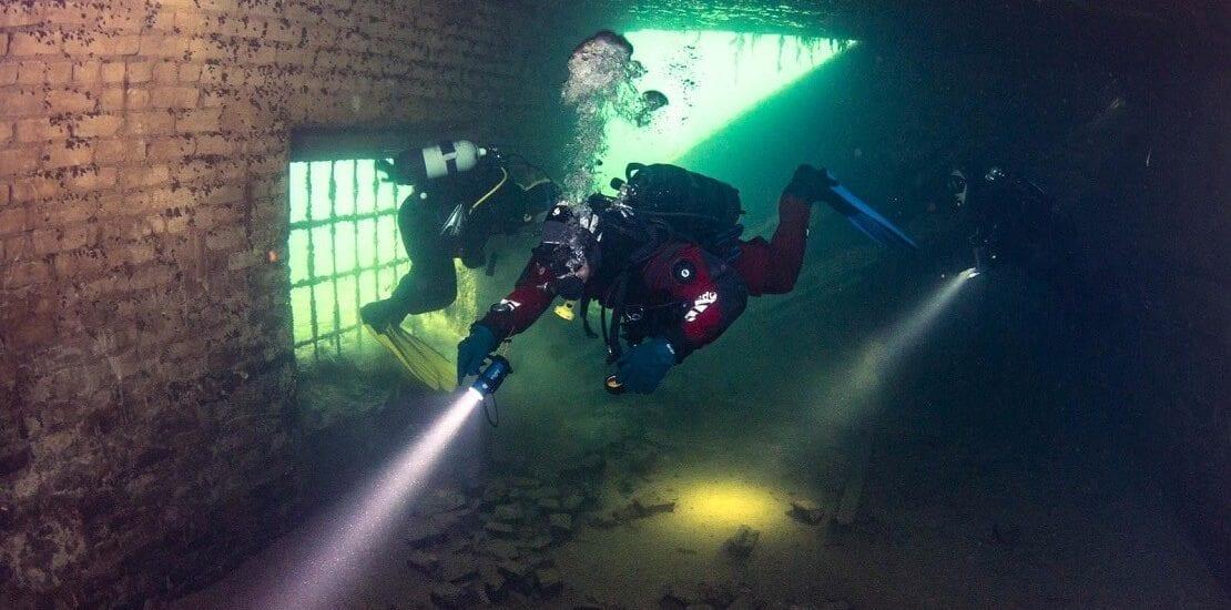 Estland: Tauchen im Unterwassergefängnis Rummu