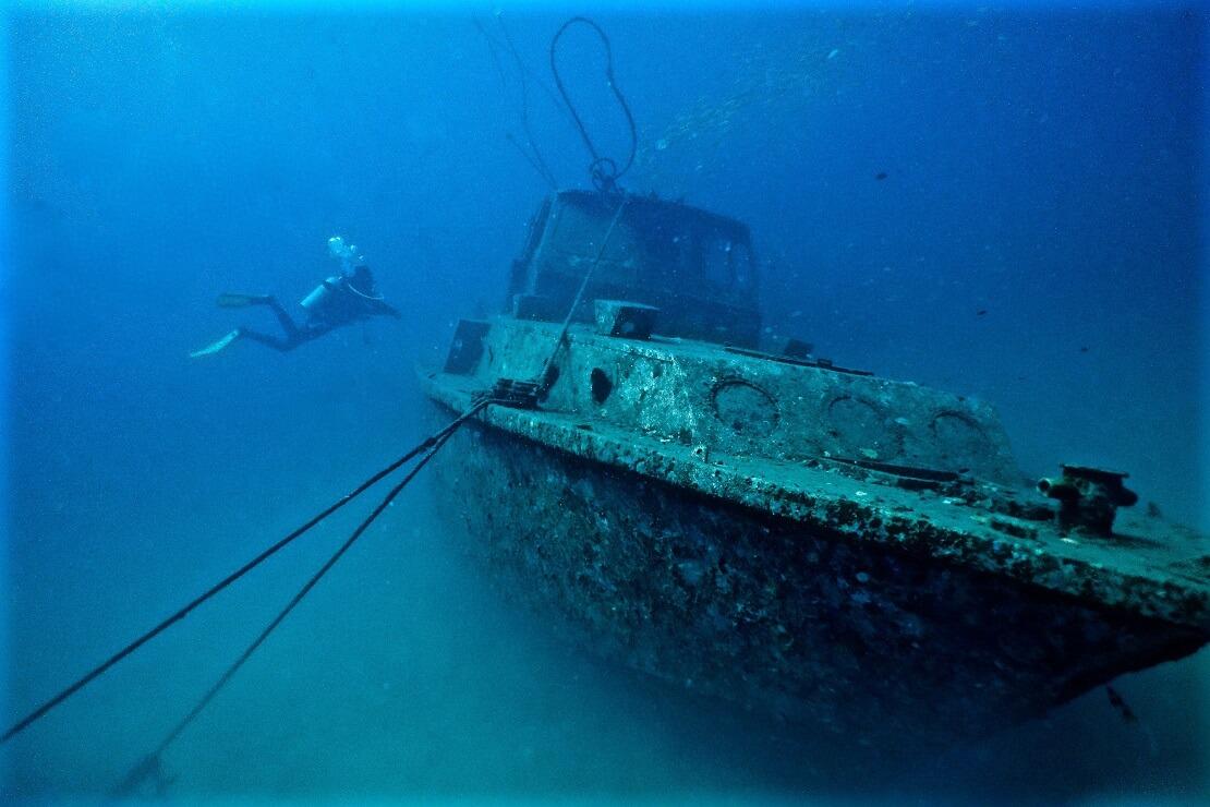 Eines der Police Wrecks der Perhentian Islands