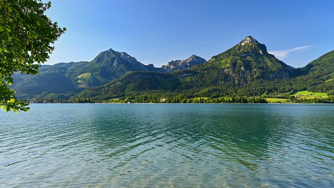 Der Wolfgangsee in Österreich
